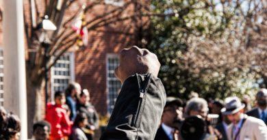 ruka prosvjed