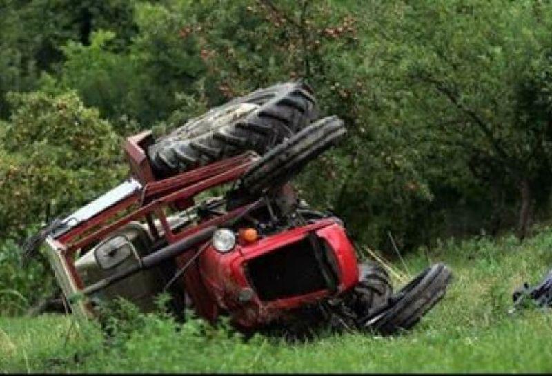 prevrnuo traktor