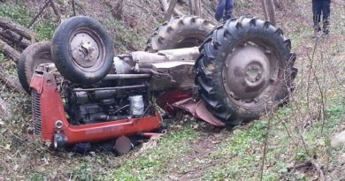 traktor prevrnuo