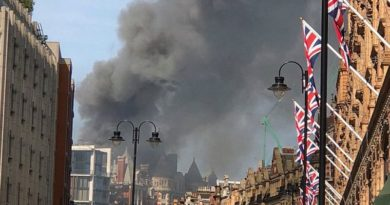 London požar hotel