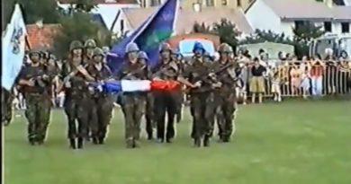 Ogulin nekad – Postrojavanje hrvatskih ratnika po povrtaku iz Oluje