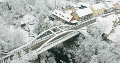 most ogulin zrak zima ist