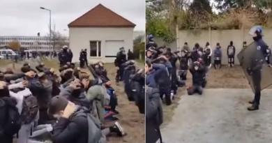 policija prosvjednici učeninici