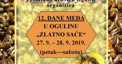 Plakat Dani meda u Ogulinu 2019 promko članak ist