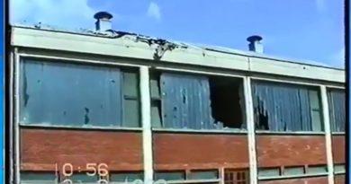 Snimljeno 12.09.1993. godine – nakon artiljerijskog napada na Ogulin