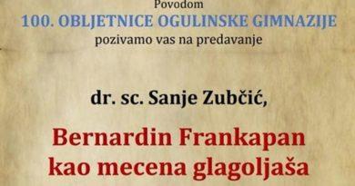 plakat predavanje Frankopan mecena glagoljaša iust
