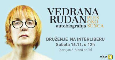 Vedrana Rudan – U subotu ću biti na Interliberu