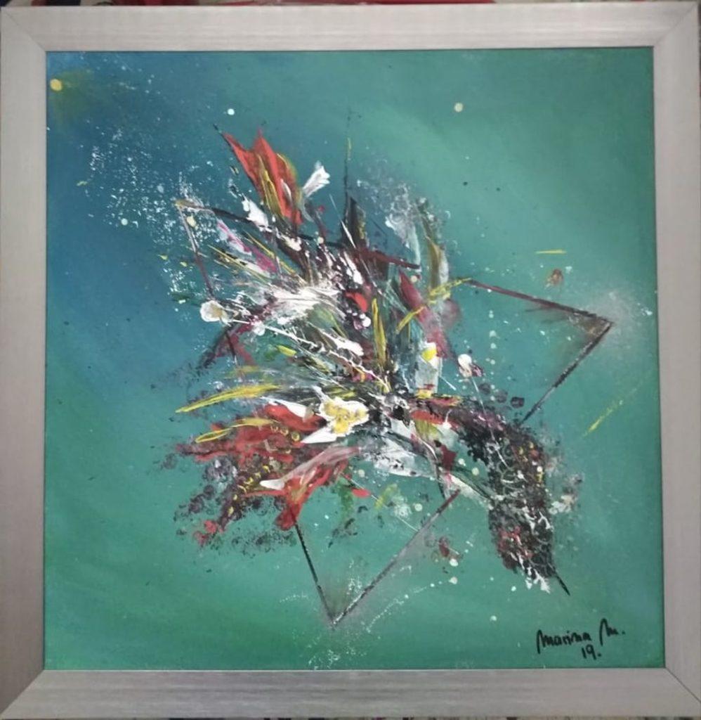 Akril na platnu - apstrakcija 4040 cm