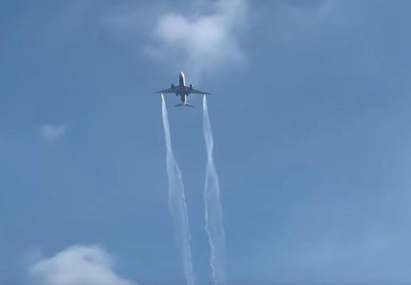 avion ispušta gorivo ist
