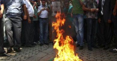 spalili zastavu ist
