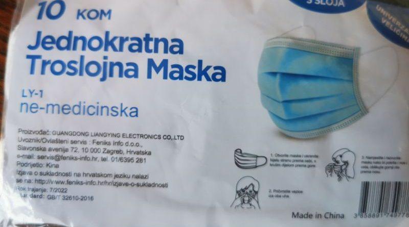 zaštitne maske pakiranje ist