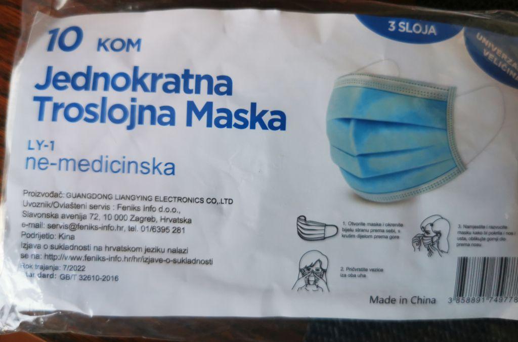 zaštitne maske pakiranje