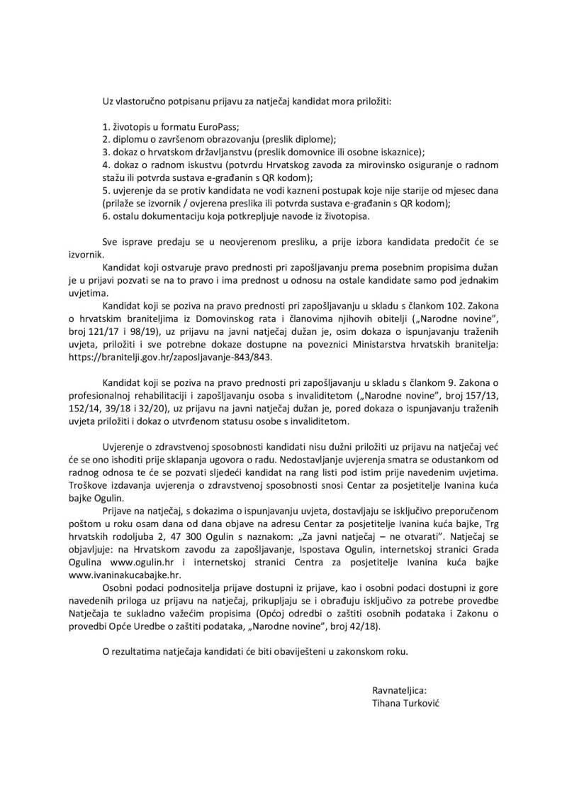IKB - ponovljeni javni natječaj za prijam u radni odnos na određeno vrijeme (pedagog animator)-page-002