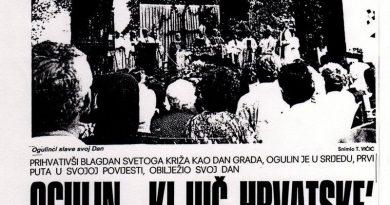 Utorkom iz muzejskog arhiva – Proslava Dana Grada Ogulina 1994.