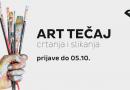 Novi program:  ART TEČAJ CRTANJA I SLIKANJA