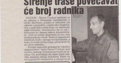 Iz novinarske arhive – Ogulin u doba Bechtela