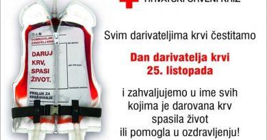 25. listopada – Dan dobrovoljnih davatelja krvi u Hrvatskoj