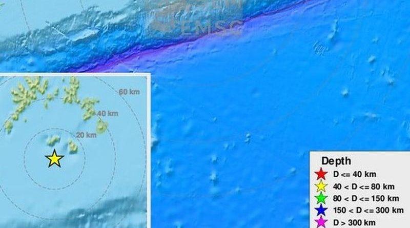 potres Aljaska ist