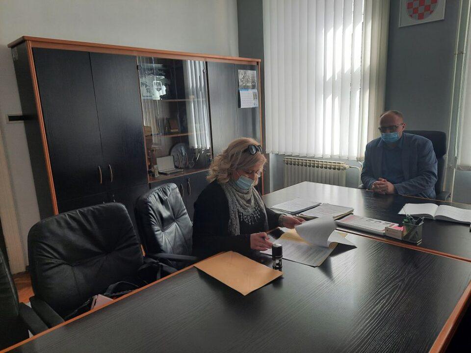 Valentina Bartolović kod gradonačelnika