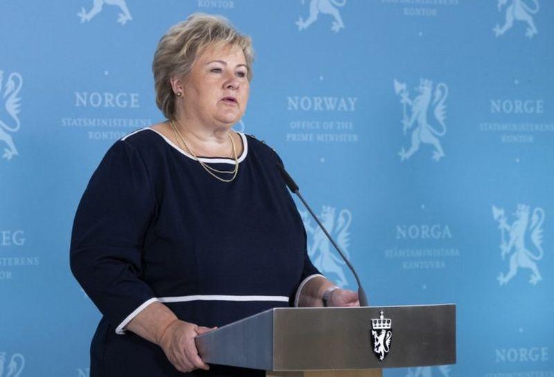 Erna Solberg Norveška
