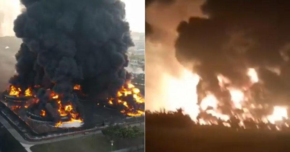 požar nafta indonezija