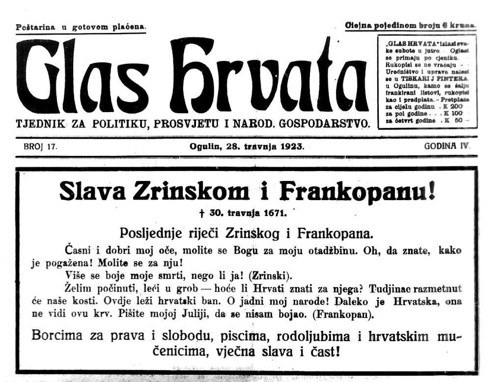 Smrt Zrinski Frankopan